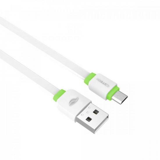 Cabo USB x Micro USB 1m CB-100 Branco C3TECH