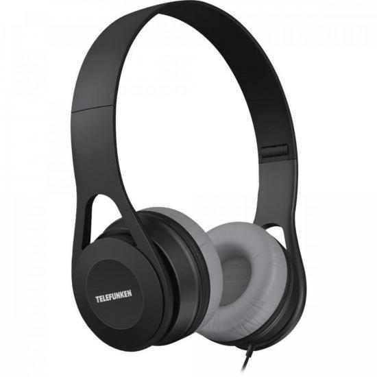 Fone de Ouvido Over-Ear H300 Preto TELEFUNKEN (73604)