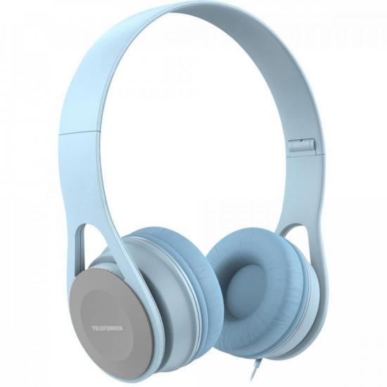 Fone de Ouvido Over-Ear H300 Azul Claro TELEFUNKEN (73605)