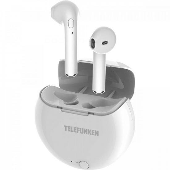Fone de Ouvido Bluetooth Earbuds H320BT Branco TELEFUNKEN (73606)