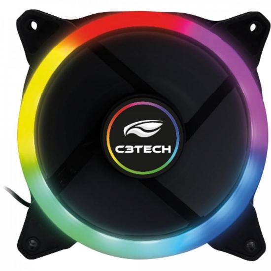 Cooler Fan 12cm LED F7-L120M Preto C3TECH (73700)