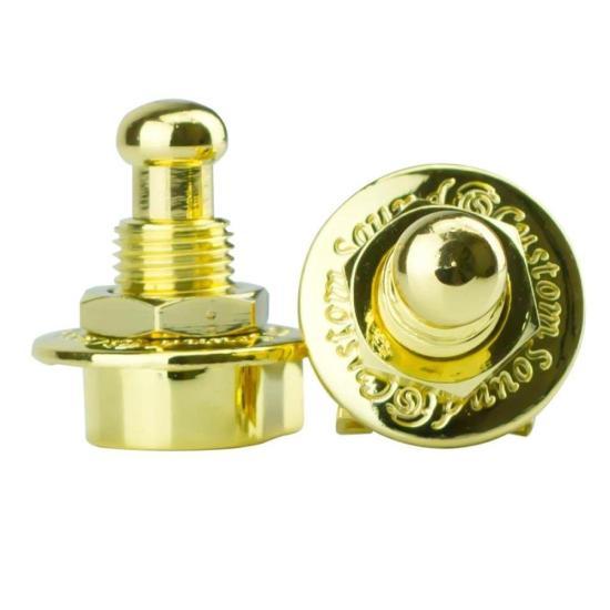 Trava para Correia Strap Lock S1 Dourada CUSTOM SOUND (74260)
