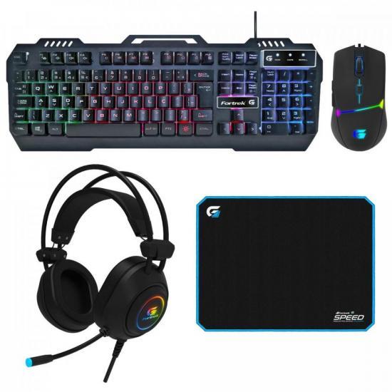 Kit Periféricos Gamer FORTREK CRUSADER c/ Mouse + Teclado + Headset + (74342)