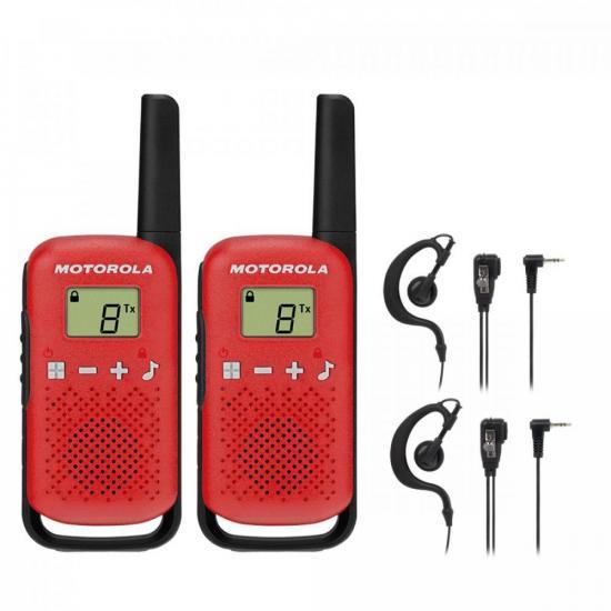Kit Rádio Comunicador Talkabout T110BR Motorola + Fone (74579)