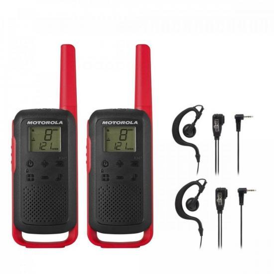 Kit Rádio Comunicador Talkabout T210BR Motorola + Fone (74580)