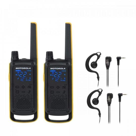 Kit Rádio Comunicador Talkabout T470BR Motorola + Fone (74581)