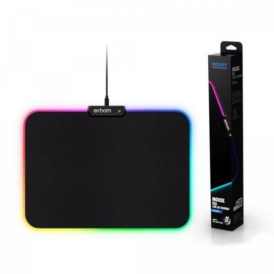Mouse Pad Gamer MP-LED2535 LEDs RGB EXBOM (74597)