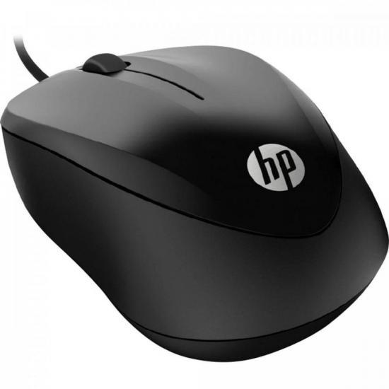 Mouse com fio 1200DPI 1000 Preto HP (74680)