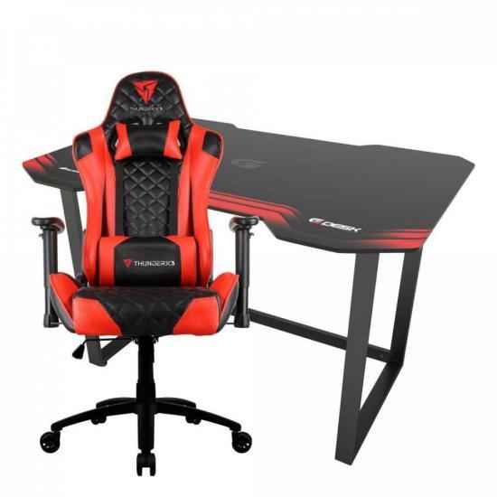 Kit Cadeira Gamer ThunderX3 TGC12 VR + Mesa Gamer Fortrek (75182)