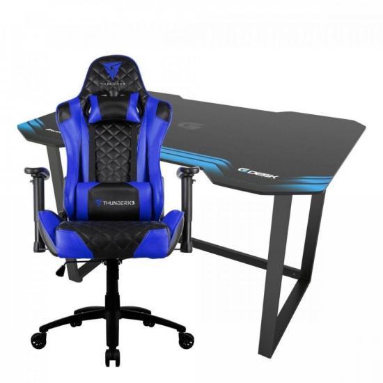 Kit Cadeira Gamer ThunderX3 TGC12 AZ + Mesa Fortrek (75183)